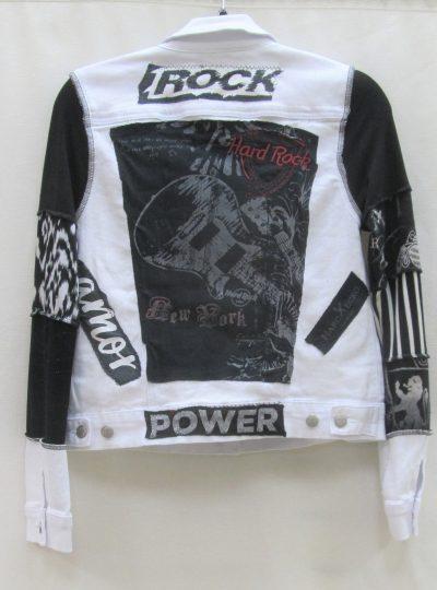Back of white jacket