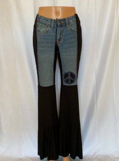 Solid Black mama Mia Jeans can be dressed up or down.